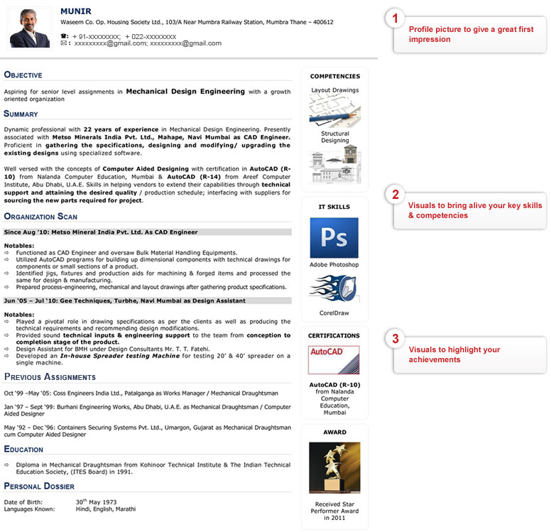 Visual Resume - After Changes