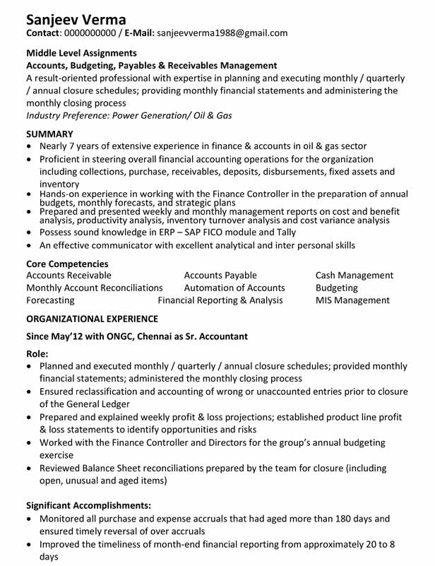 Text Resume - Before Changes