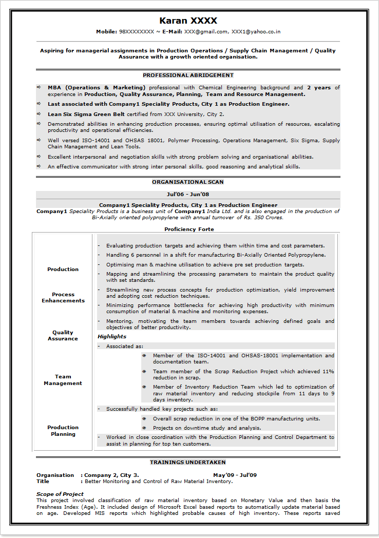 resume format for freshers engineers free pdf