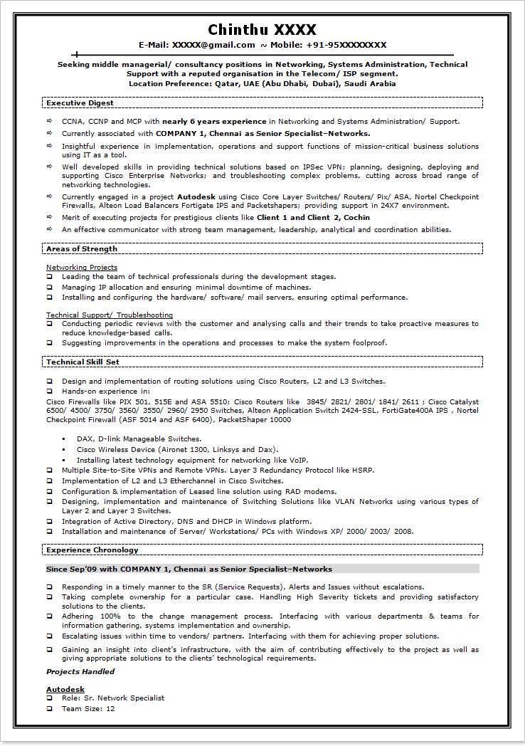 naukri freshers resume