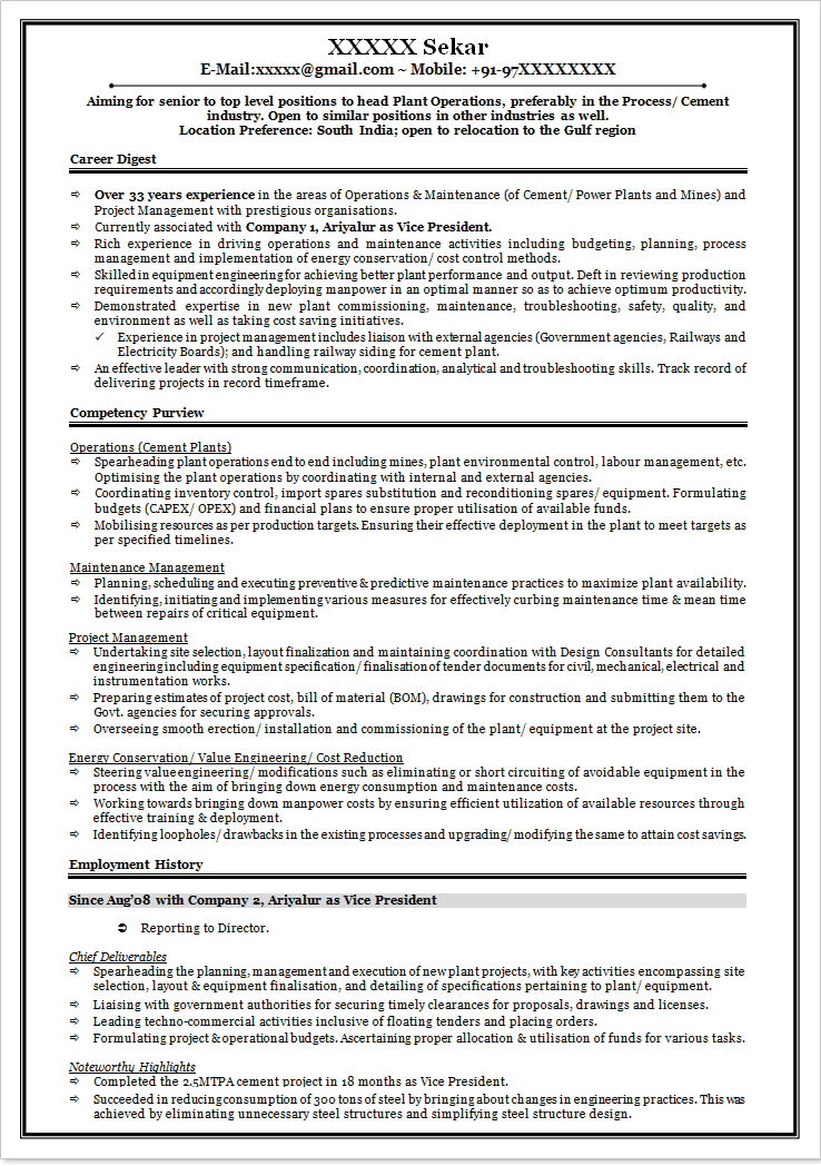 sample resume format naukri