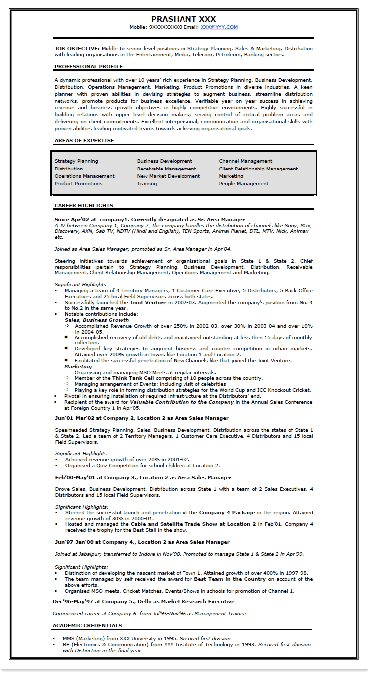 resume sles for doctors in india