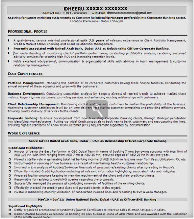 making a resume format