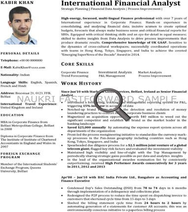 Resume Format For Kuwait Text CV sample for mid level (3-8 Years) Download
