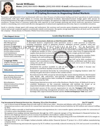 Text Resume Sample