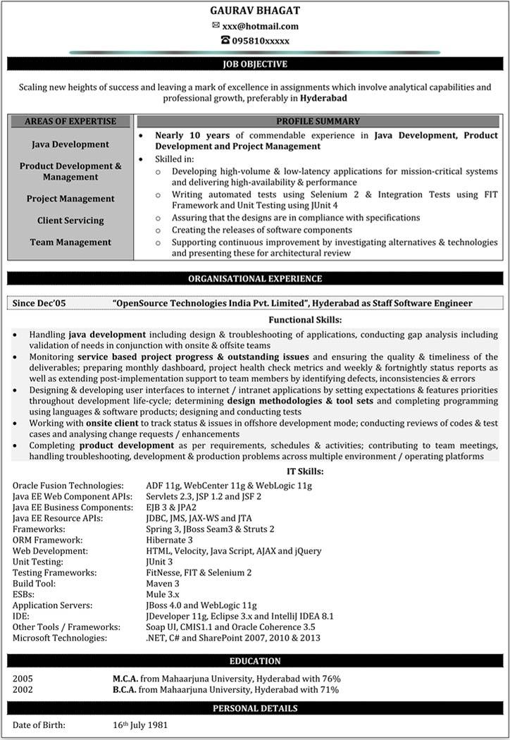 java programmer resume sample resume 2 years experience ebook database sample