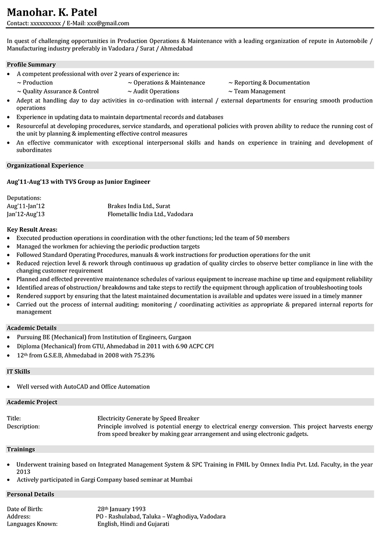 entry level assembly line resume 28 images search