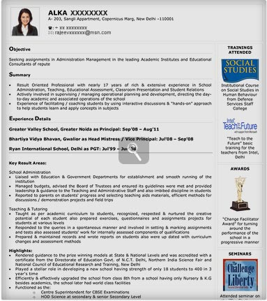 visualRes4 Visual Resume Format on for doctors, mba freshers, ojt sample,