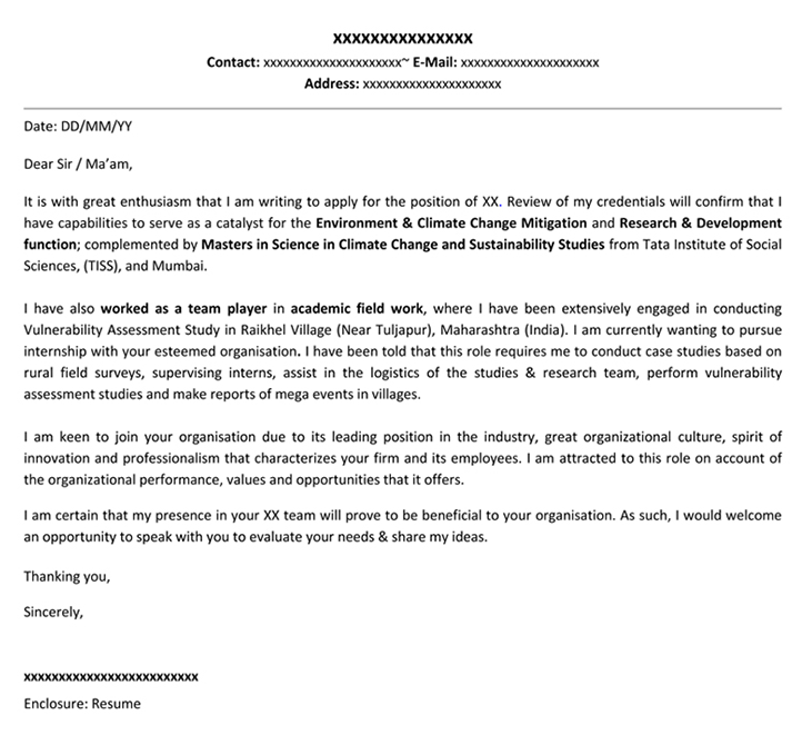 Graduate Marketing Cover Letter: Cover Letter Name For Naukaricom