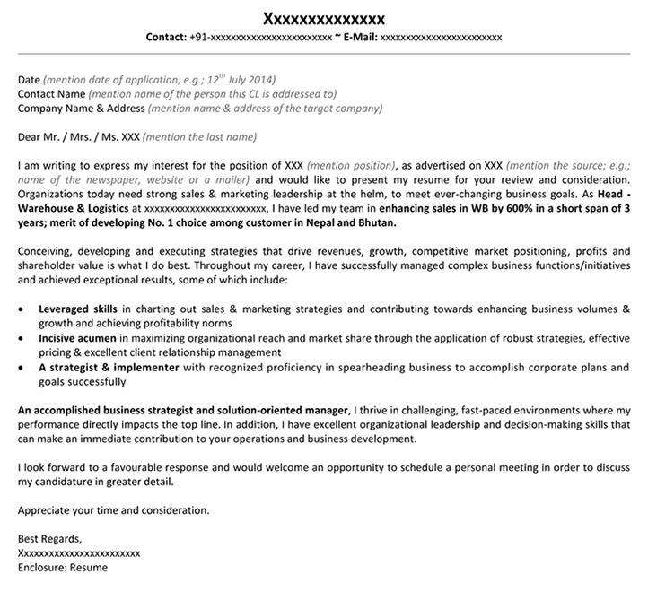 Download Marketing Cover Letter