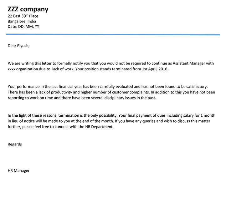 Amazing Download Termination Letter Termination Letter Format