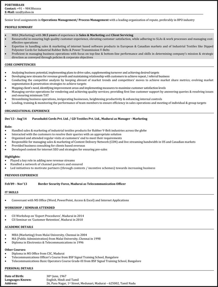 Download BPO Resume Samples  Sample Customer Service Resume