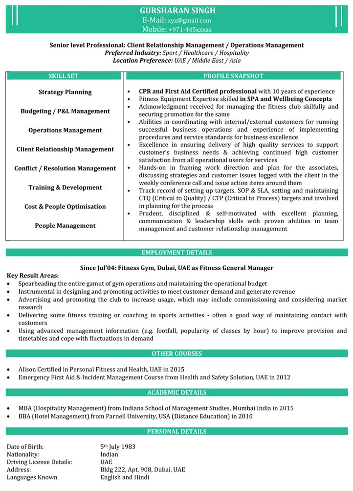 sle it fresher resume