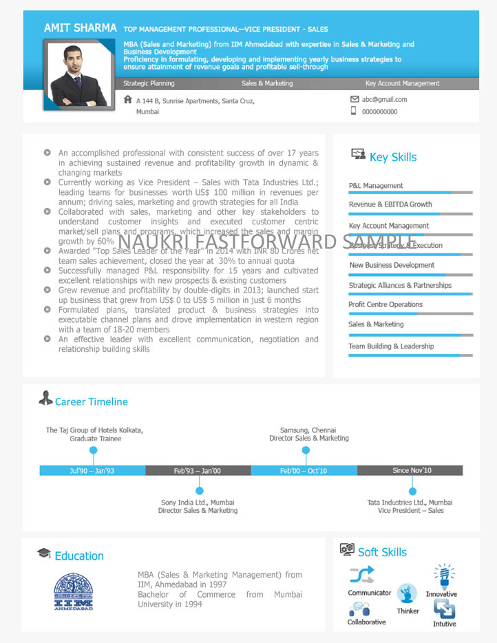 Visual Resume Samples | Visual CV | Visual Curriculum Vitae Format - Naukri. com