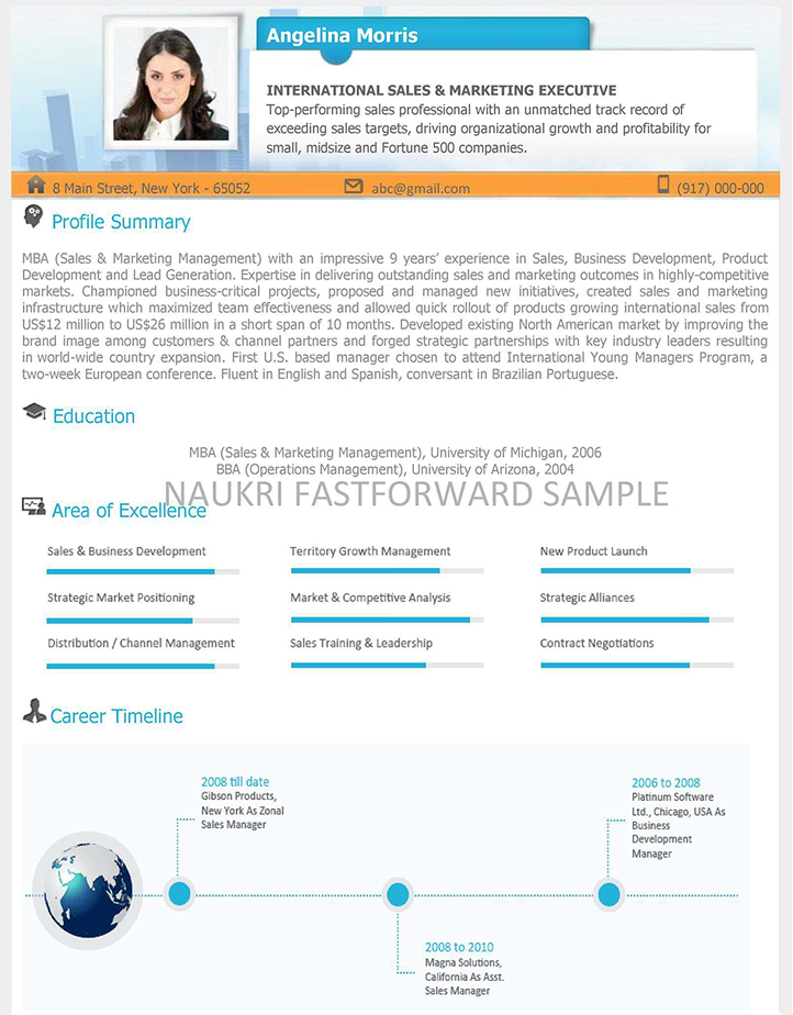 Sample Cv Business Development Manager My School Days